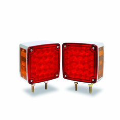 "LED 4-5/8"" SQUARE RED/AMBER PEDESTAL LIGHT"