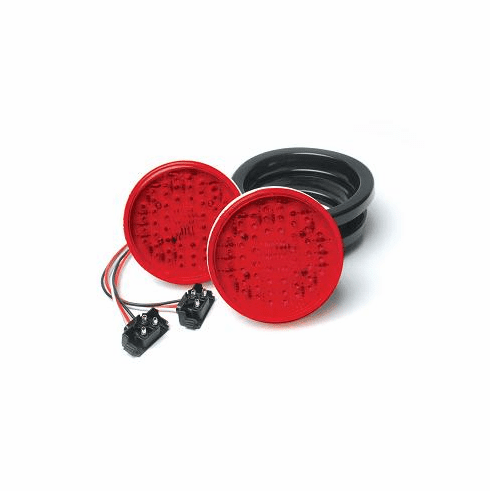 LED 4 ROUND RED SELF CONTAINED STROBE LIGHT KIT