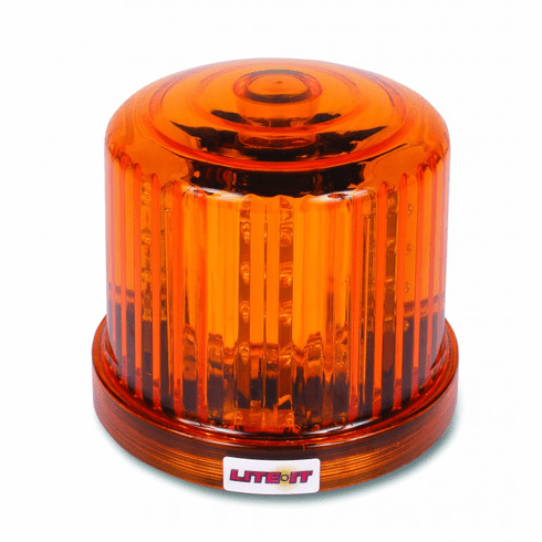 LED AMBER BATTERY OPERATED MAGNETIC ROTATING BEACON