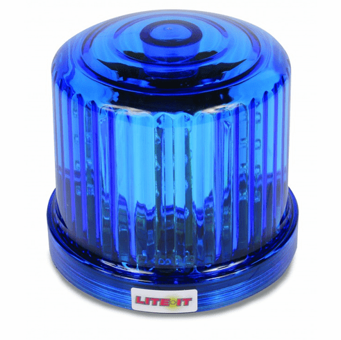 LED BLUE BATTERY OPERATED MAGNETIC ROTATING BEACON