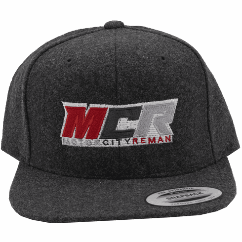 MCR OFFICIAL HAT DARK GREY WOOL LOGO YUPOONG CLASSIC FLAT BRIM