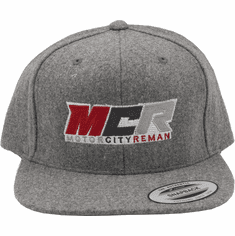 MCR OFFICIAL HAT LIGHT GREY WOOL LOGO YUPOONG CLASSIC FLAT BRIM