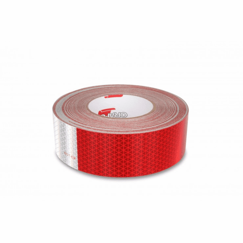 RED/WHITE REFLECTIVE CONSPICUITY TAPE