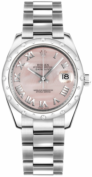Rolex Datejust 31 Pink Mother of Pearl Dial Watch 178344