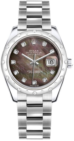 Rolex Datejust 31 Black Mother of Pearl Dial Women's Watch 178344