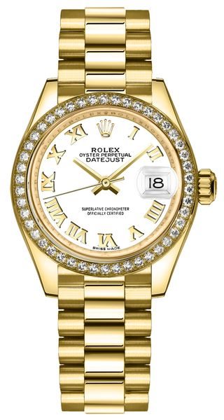 Rolex Lady-Datejust 28 Yellow Gold & Diamonds 279138RBR