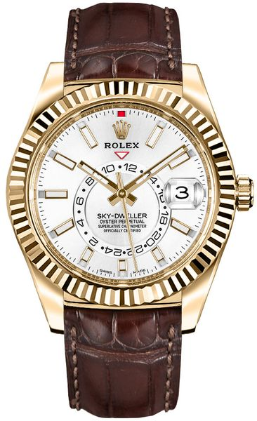 Rolex Sky-Dweller Gold Men's Watch 326138