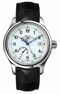 Ball Trainmaster Power Reserve White Dial Men's Watch NM1056D-L1J-WH