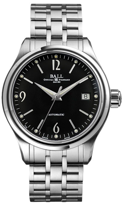 "NM1060D-SJ-BK  NEW BALL TRAINMASTER STREAMLINER MEN'S CASUAL WATCH FOR SALE  In Stock - Immediate Delivery Available  - Free Overnight Shipping | Lowest Price Guaranteed - No Sales Tax (Outside California)- With Manufacturer Serial Numbers - Swiss Made  - Black Dial  - Index & Arabic Numeral Hour Markers  - Date Feature  - Self-winding Automatic Movement  - Ball Caliber RR1103 - 3 Year Warranty  - Guaranteed Authentic  - Certificate of Authenticity  - Manufacturer Box & Manual  - Brushed with Polished Stainless Steel Case  - Brushed with Polished Stainless Steel Bracelet - Scratch Resistant Anti-Reflective Sapphire Crystal  - 50 Meters / 165 Feet Water-Resistant  - 39mm = 1 1/2"" Case, 7"" Adjustable Bracelet - Case Thickness: 11mm  - Fixed Bezel  - Luminescent Hands & Hour Markers  - Screw Down Crown - Stainless Steel Deployment Buckle  - Free Bracelet Sizing    &nbsp &nbsp Ball Trainmaster Streamliner Power Reserve NM1060D-SJ-BK Mens Watch. Features a brushed with polished stainless s"