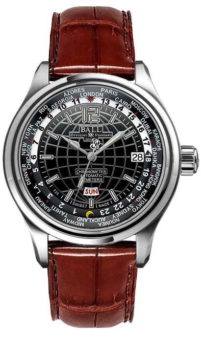 Ball Trainmaster Worldtime Gm1020d-l1caj-bk