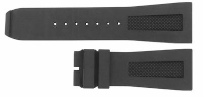 Baume et Mercier Hampton Square 27mm Black Rubber Strap MX005W29