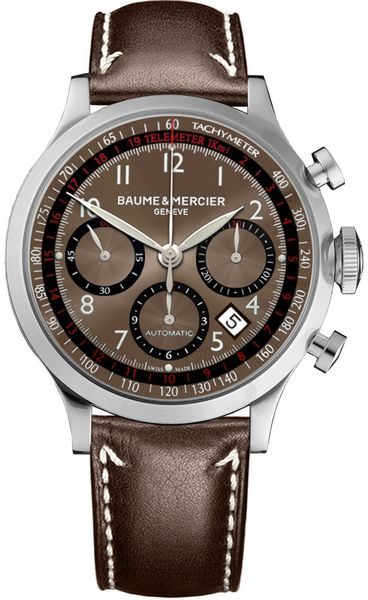 Baume & Mercier Capeland Brown Dial Men's Watch 10002