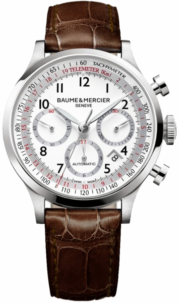 Baume & Mercier Capeland White Dial Men's Watch 10082
