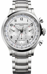 Baume & Mercier Capeland Chronograph Silver Dial Men's Watch 10064
