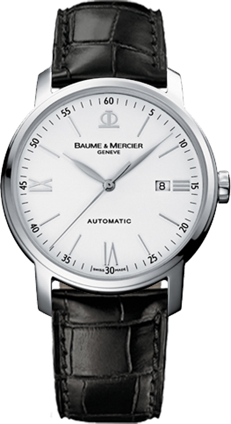 Baume_&_Mercier_Classima_White_Dial_Mens_Watch_8592