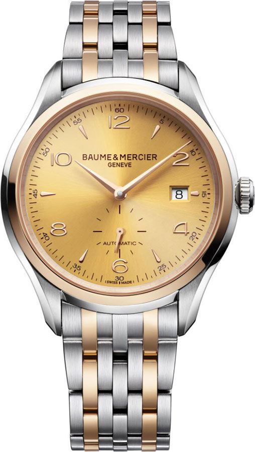 Baume_&_Mercier_Clifton_Gold_Dial_Mens_Watch_10352