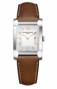 Baume & Mercier Hampton Brown Leather Strap Women's Watch MOA10020