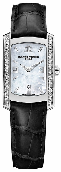 Baume & Mercier Hampton Milleis Black Strap Ladies Diamond Watch 8683