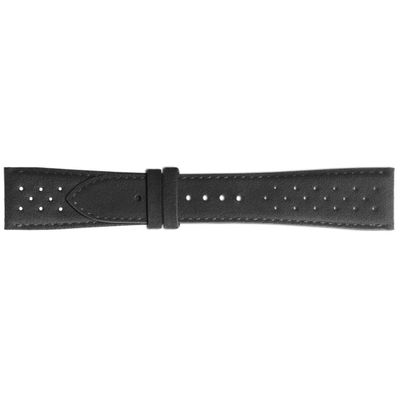 Bell & Ross 22mm Inlet Perforated Black Alcantara OEM Watch Strap B-F-020