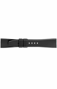 Bell & Ross 22mm Inlet Black Woven Rubber OEM Watch Strap B-P-027