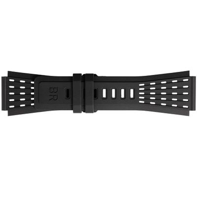 Bell & Ross 24mm Black Perforated Rubber Strap B-P-035