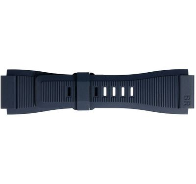 Bell & Ross 24mm Blue Grooved Rubber Strap B-P-034