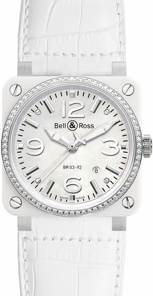 Bell & Ross Aviation Instruments BR0392-WH-C-D/SCA