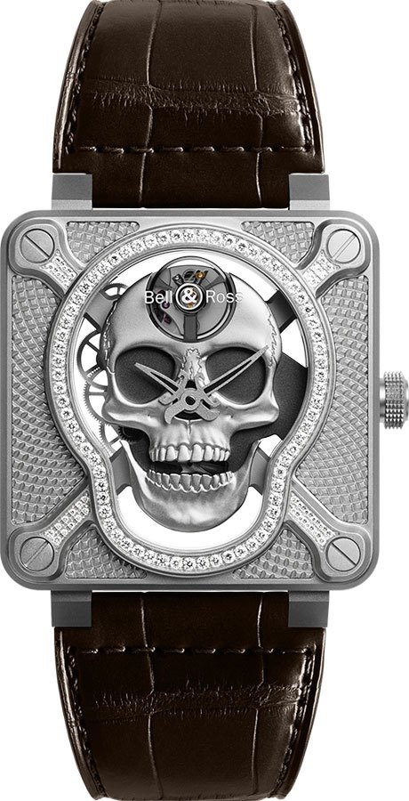 Bell & Ross Aviation Instruments BR01-SKULL-SK-LGD