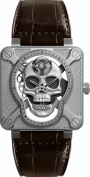 Bell & Ross Aviation Instruments Limited Edition Men's Watch BR01-SKULL-SK-ST