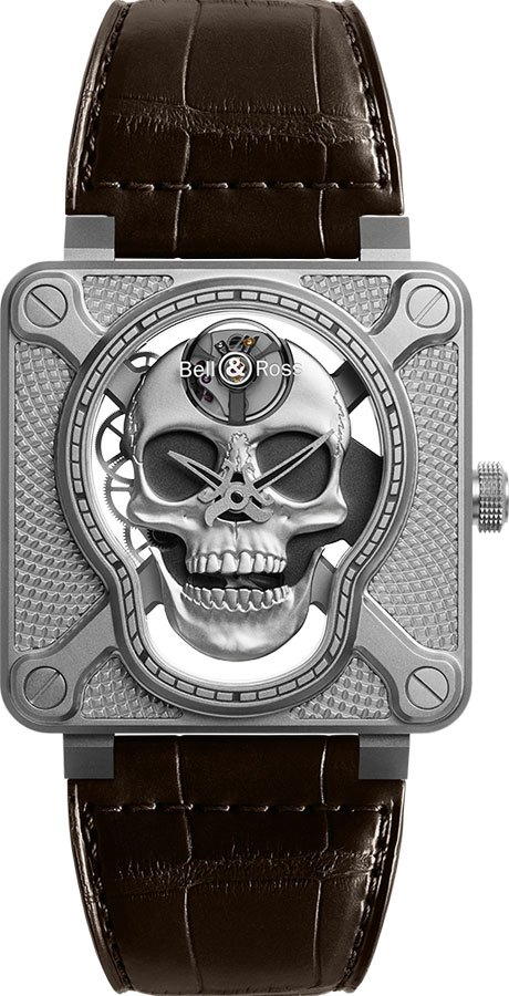 Bell & Ross Aviation Instruments BR01-SKULL-SK-ST