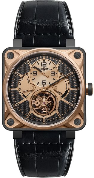 Bell & Ross Aviation Instruments Luxury Men's Watch BR01-TOURB-PG/DCL