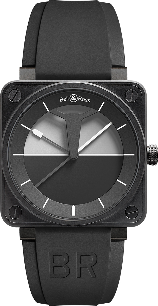 Bell And Ross Watches >> Br0192 Horizon Bell Ross Mens Automatic Watch Black Dial Rubber Strap