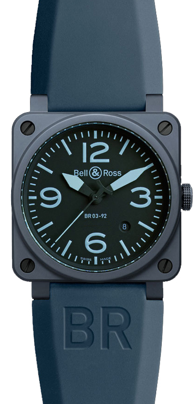 c71247cc1 Bell & Ross Aviation Instruments BR0392-CERAM-BLUE - image 0