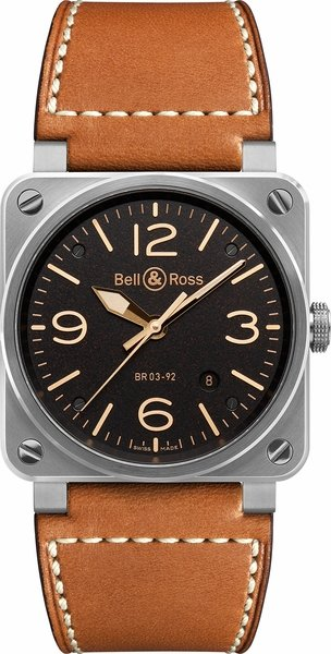 Bell & Ross Aviation Instruments BR0392-ST-G-HE/SCA