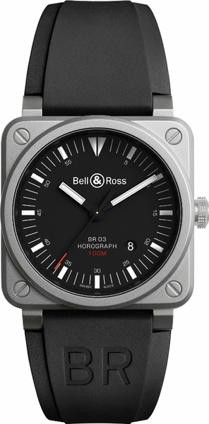 Bell & Ross Aviation Instruments BR0392-HOR-BLC/SRB