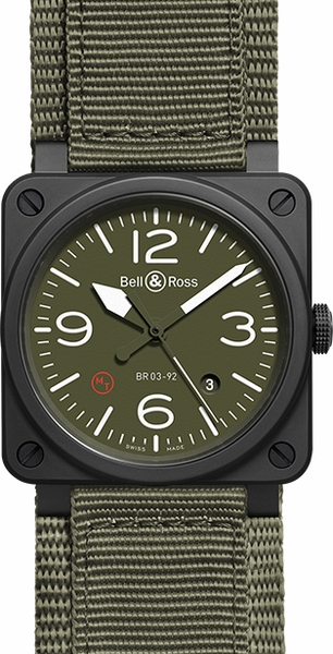 Bell & Ross Aviation Instruments BR0392-MIL-CE
