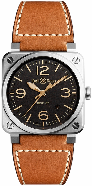 Bell & Ross Aviation Instruments BR0392-ST-G-HE/SCA/2