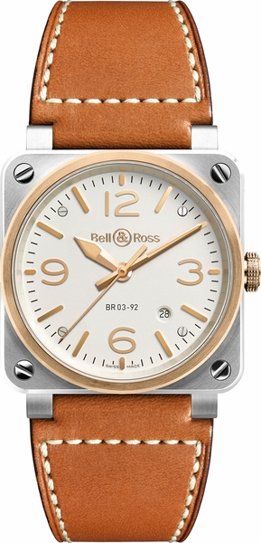 Bell & Ross Aviation Instruments BR0392-ST-PG-SCA