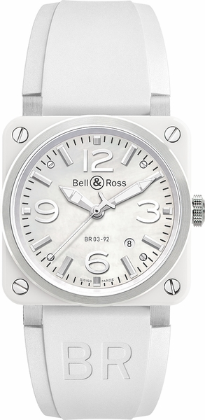 Bell & Ross Aviation Instruments White Ceramic Women's Watch BR0392-WH-C