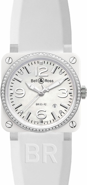 Bell & Ross Aviation Instruments BR0392-WH-C-D/SRB