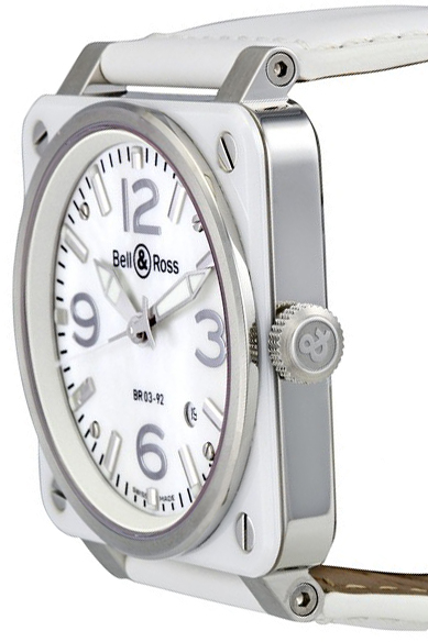 5d500a766 ... Bell & Ross Aviation Instruments Women's Automatic Watch BR0392-WH-C/SCA  ...