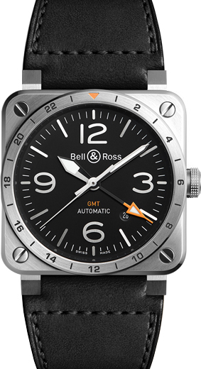 Bell & Ross Aviation Instruments BR0393-GMT-ST/SCA