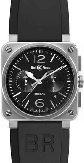 Bell & Ross Aviation Instruments BR0394-BL-SI/SCA