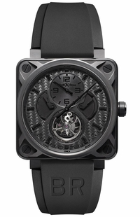 Bell & Ross Aviation Instruments Black Carbon Fiber Dial Watch BR01-TOURB-PHANTOM