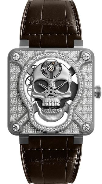 Bell & Ross Aviation Instruments BR01-SKULL-SK-FLD