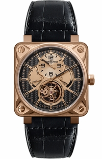 Bell & Ross Aviation Instruments Tourbillon Rose Gold Luxury Watch BR01-TOURB-PG/CA