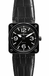 Bell & Ross Aviation Instruments BR0192-BL-CER/SCR