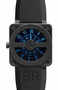 Bell & Ross Aviation Instruments BR0192-COMPASS-BLUE