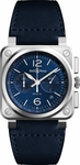 Bell & Ross Aviation Instruments BR0394-BLU-ST/SCA