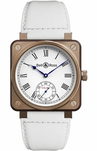 Bell & Ross Aviation Instruments White Dial Men's Watch BR01-CM-203-B-V-032
